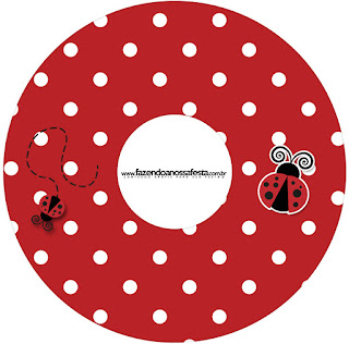 Ladybug Party Free Printable CD Labels.