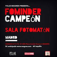 Concierto de Fominder y Campeón en Fotomatón