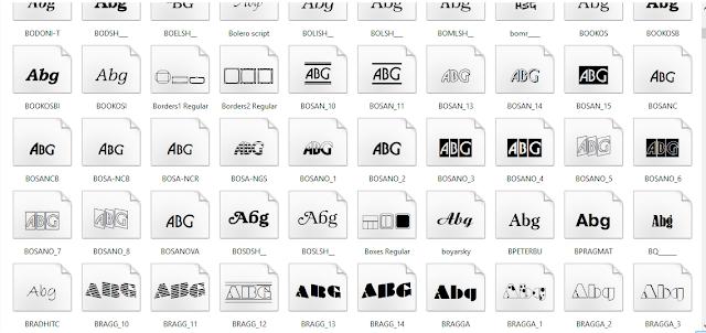 2000 Font Latin Untuk Memperindah Photoshop