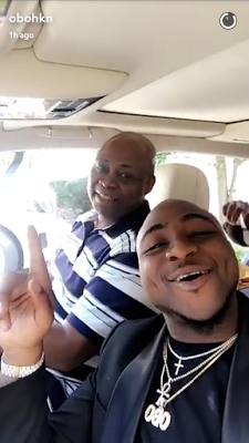 Davido Gifts Dad A New Bentley To Celebrate His Birthday