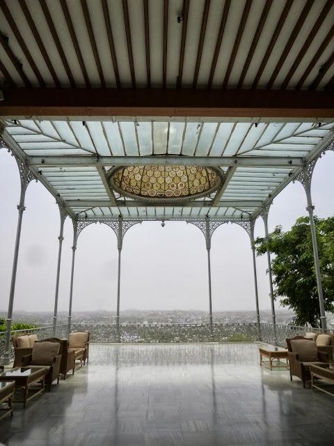 Falaknuma Palace Images: Victorian-era glass gazebo