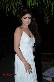 Telugu Actress Model Sony Charishta Pos in White Long Dress at Nanna Nenu Na Boyfriends Audio Launch  0006.JPG
