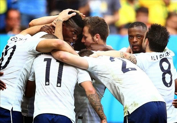 2014 World Cup: France Defeats Nigeria 2-0 to Reach Last 8