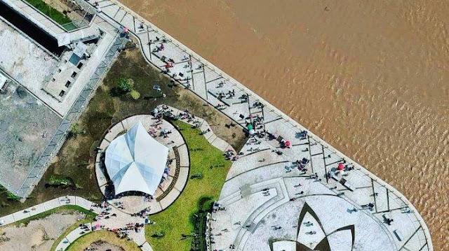 View Drone Bendung Kamijoro Jogja