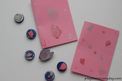 finished cards with heart stamps