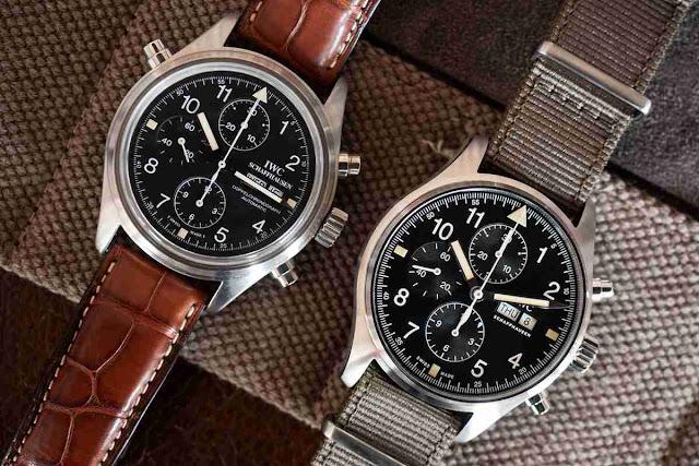 Le Meilleur Réplique Montre IWC Pilots Rattrapante Chronographe 42mm Ref. IW377724 Acier Inoxydable