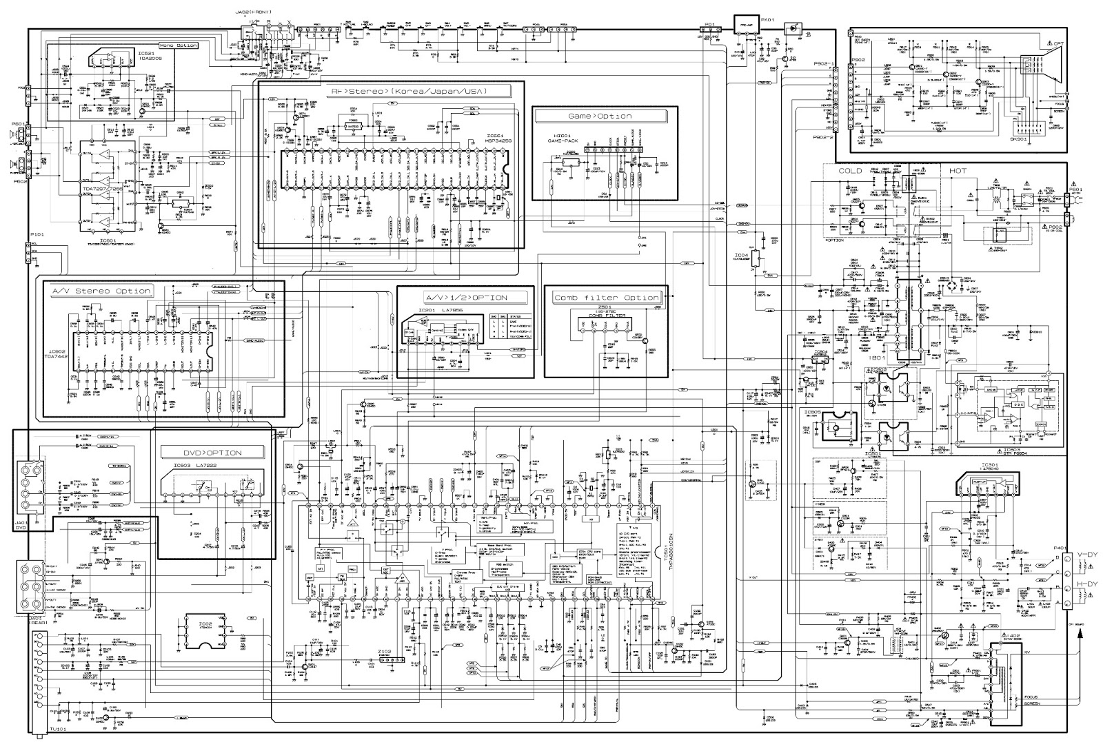 Lg Rp21fd10 Schematic Diagram Used Ics Tda2006 Tda7297 7296 Single Door Doorbell Wiring Tda7442 La7222 At24c04 Tmpa8801csn La78040 Str F6654 Power Switching