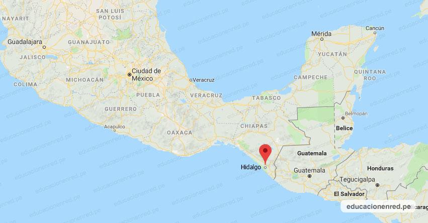 Temblor en México de Magnitud 5.2 (Hoy Viernes 29 Mayo 2020) Terremoto - Sismo - Epicentro - CD. Hidalgo - Chiapas - CHIS. - SSN - www.ssn.unam.mx