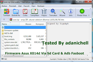 Firmware Asus X014d Via Sd Card & Adb Fasboot