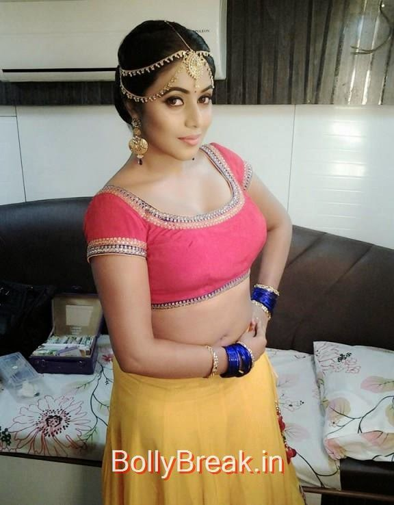 , Actress Poorna Hot Pics In Ghaghra Choli