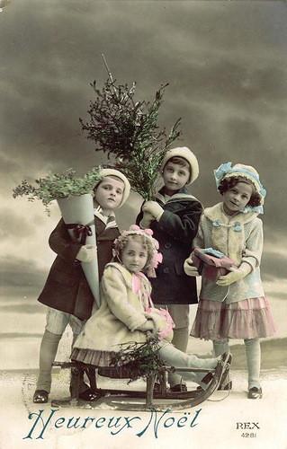 Carte postale ancienne Heureux Noël