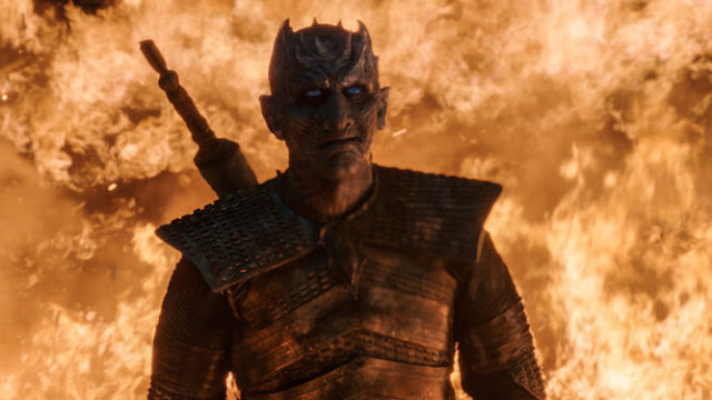 el señor de la noche resiste el fuego en juego de tronos 8x03