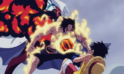 50 Top Kematian Anime Paling Menyedihkan Portgas D. Ace One Piece No.4
