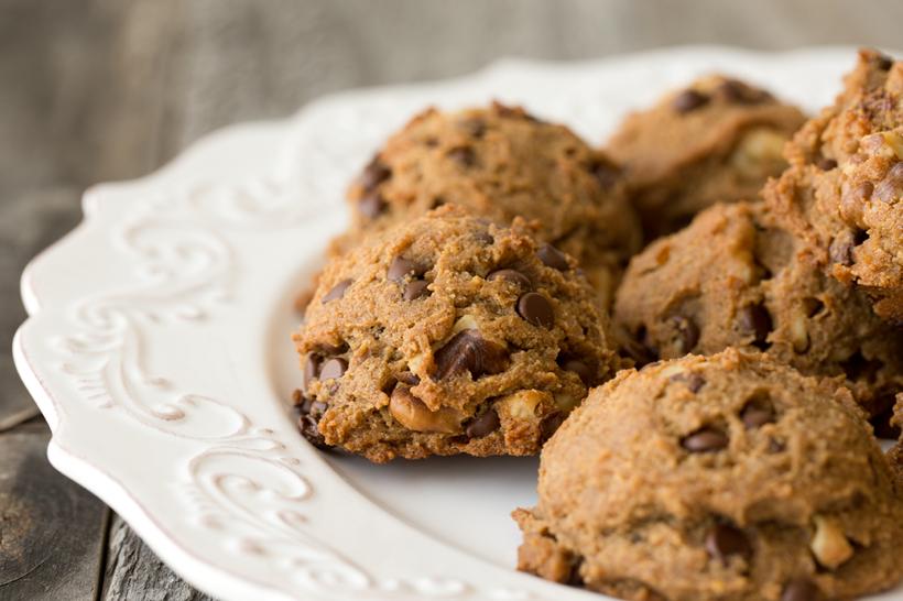 vegan gluten free 'chunky monkey' cookies