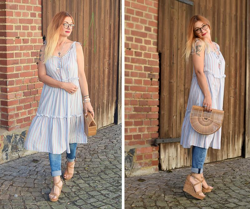 wie style ich ein Kleid über einer Hose, Streetstyle, Blogger Outfit