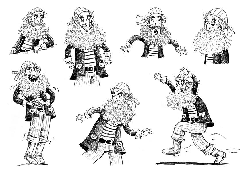 Jamie Smith Illustration: Pirate doodles.