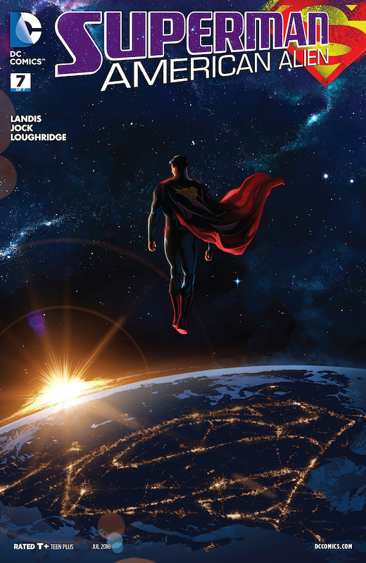 Superman: American Alien: Story: Max Landis Art: Nick Dragotta, Ryan Sook, Tommy Lee Edwards, Joëlle Jones, Jae Lee, Francis Manapul, Jonathan Case, Jock Colors: Alex Guimarães, Rico Renzi, June Chung, Lee Loughridge Letters: John Workman  Superman created by Jerry Siegel and Joe Shuster.