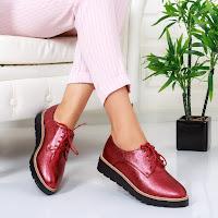Pantofi casual femei moderni la moda rosii