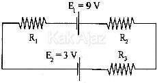 Rangkaian listrik tertutup dengan 2 sumber tegangan yang berlawanan