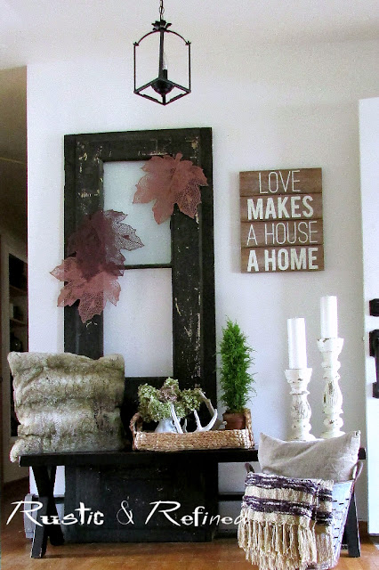 Rustic Foyer or entryway decorating.