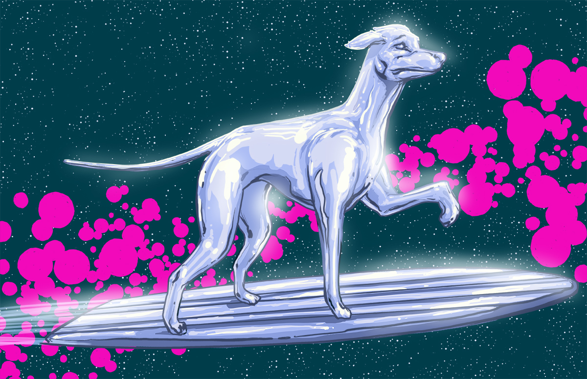 05-Silver-Surfer-Fantastic-Four-Josh-Lynch-Illustrations-of-Dogs-with-Marvel-Comic-Alter-Egos-www-designstack-co