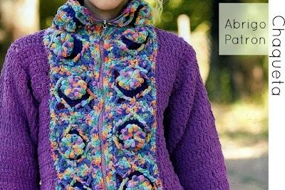 Chaqueta-Abrigo Crochet Fantasia