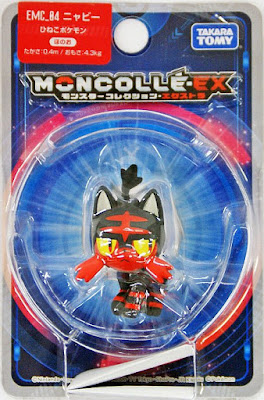 Litten figure Takara Tomy Monster Collection MONCOLLE EX EMC series