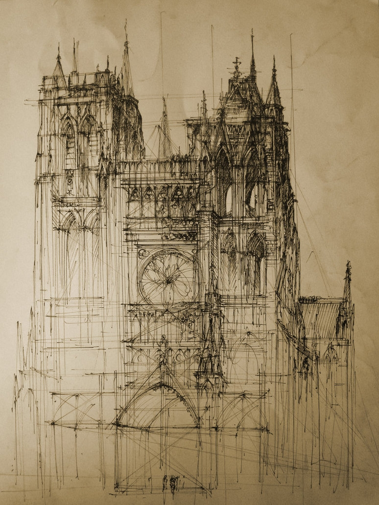 03-Gothic-Cathedral-Monika-Domaszewska-Ghosted-Architectural-Drawings-www-designstack-co