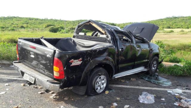 ICÓ-CE:  Adolescente morre após capotamento de veículo; quatro parentes da vítima ficam feridas