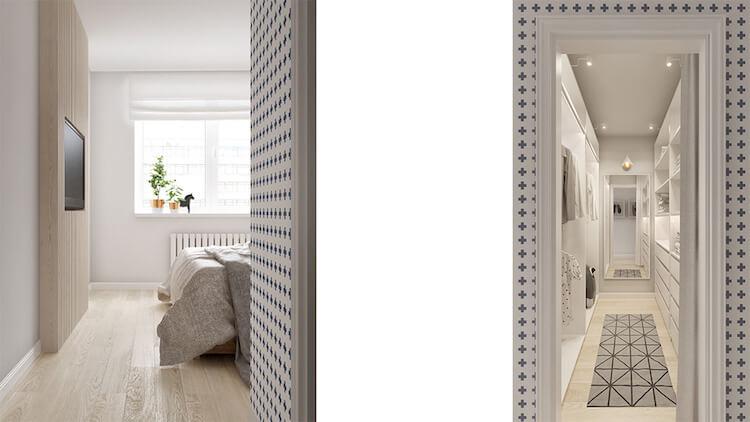 Reforma de un pequeño apartamento, dormitorio y vestidor