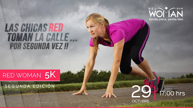5k Gimnasio Red Woman (2a.ed.; Montevideo, 29/oct/2016)