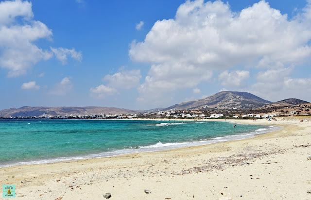Kastraki Beach en Naxos