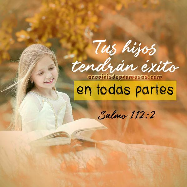 promesa de prosperidad para tus hijos mensajes cristianos con imágenes