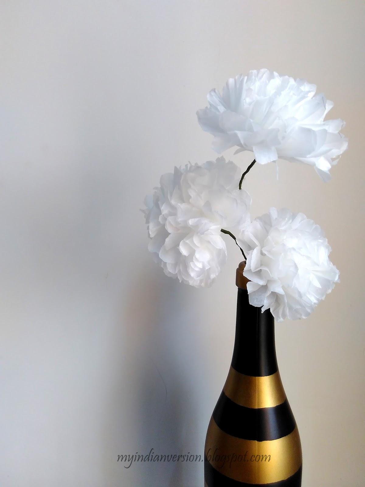 My Indian Version Diy Paper Flower Step By Step Tutorial