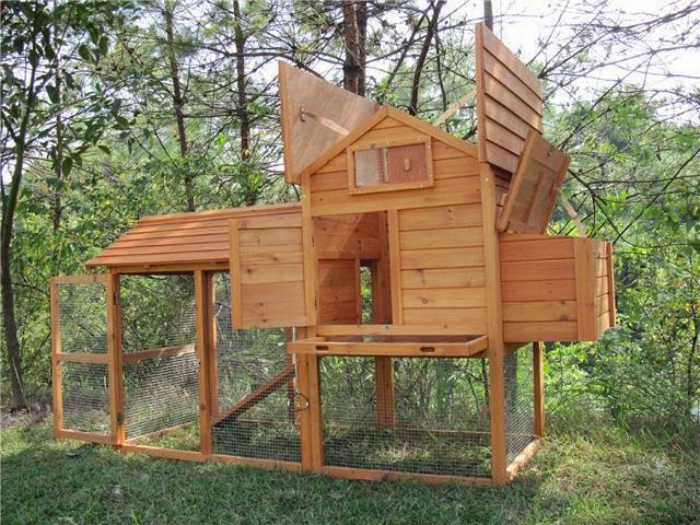 Idea para construir una casa para conejos con madera reciclada