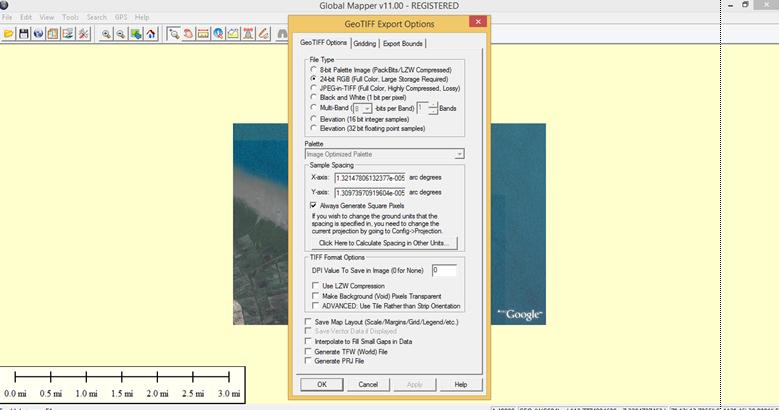 Penyimpanan Tanpa Titik Koordinat | Cropping Citra dengan Global Mapper 11