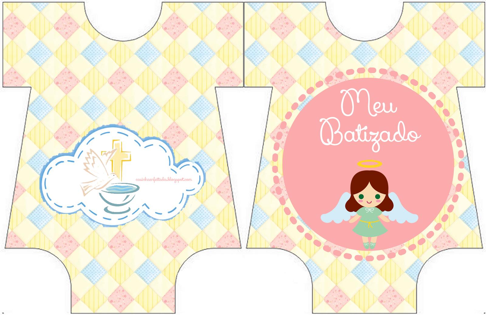 Bautismo De Nena Invitación Y Etiquetas Para Candy Bar Para