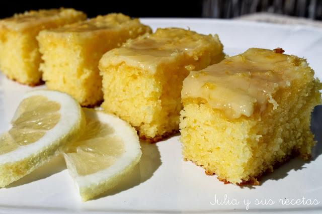 Brownie de limón. Julia y sus recetas