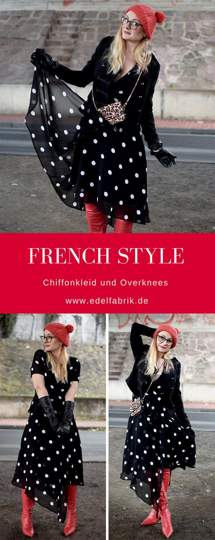 so stylst Du rote Overknees und ein Sommerkleid im Winter