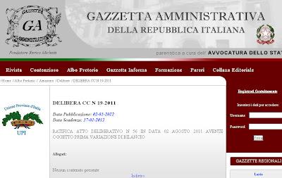 Albo Pretorio on-line: il comune di Amaseno è fuorilegge?