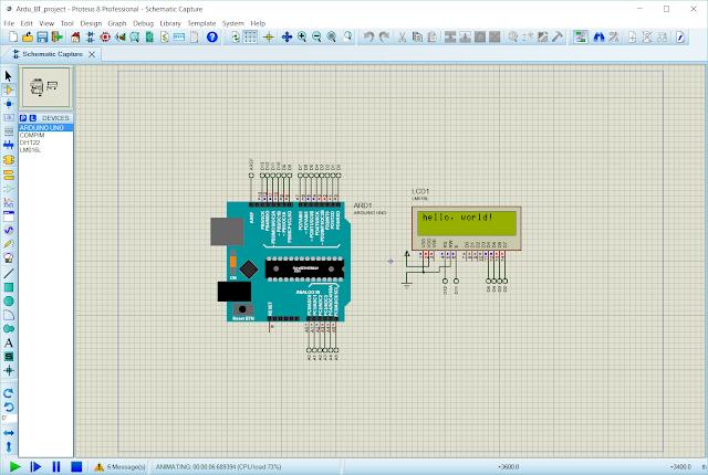 Arduino LCD Simulation