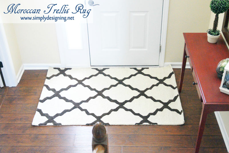 Trellis Rug | new Moroccan Trellis Rug for my front entrance | #decorating #homedecor #rugs