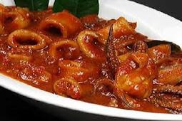 Resep Masakan Cumi Basah Saos Tiram