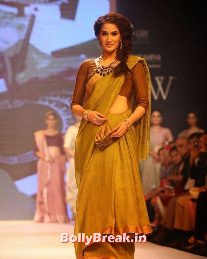 , Sagarika Ghatge in Saree, Ramp Walk at IIJW Fashion show 2014
