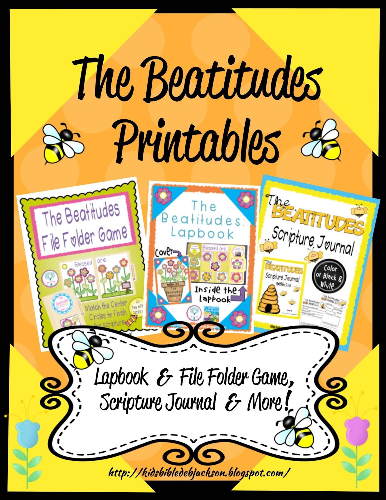 Bible Fun For Kids The Beatitudes More Printables