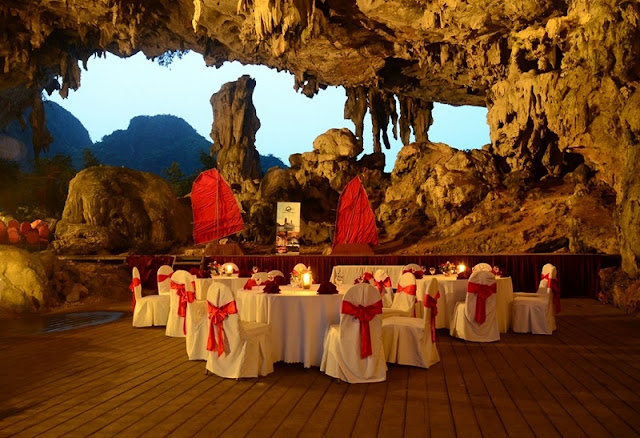 Halong Bay cave dining ~ A life time experience! 2