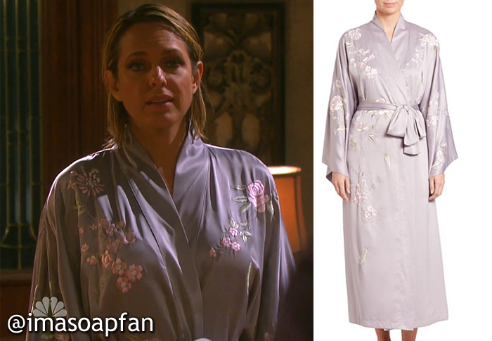 Nicole Walker's Embroidered Pale Purple Robe - Days of Our Lives
