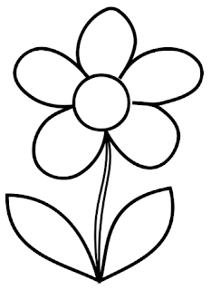 Simple Flower Images Coloring Page
