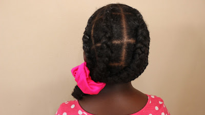 How to Fake Cornrow | Natural Hair | Sensitive Scalp DiscoveringNatural