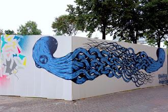 Sunday Street Art : Kraken - Palissade Agnès b du chantier des Halles - rue Rambuteau - Paris 1
